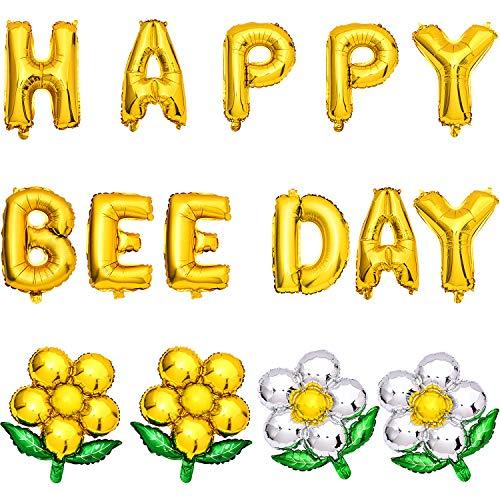 Gejoy 19 Stücke Glücklich Biene Tag Ballons Bienen Baby Dusche Dekorationen Biene Luftballons für Geburtstag Baby Dusche Feier Lieferungen