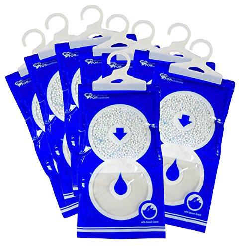 Angebot 8 Luftentfeuchter MAXI PACK 235 gr Granulat pro Säckchen zum Aufhängen für Kleiderschrank, Wohnwagen, oder jeglichen Schrank MY DEHUMIDIFIER FOR WARDROBE Entfeuchter gegen Schimmel