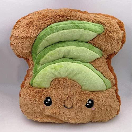 siyat Avocado Plüschtier.Komfortables Plüschspielzeug Avocado Toast Brotkissenpuppe Weihnachten Geburtstag 18cm Jikasifa-DE