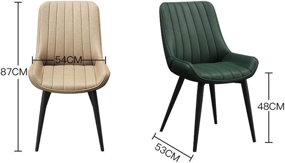 XXT Chaise de salle, Chaise de bureau simple, créative Dossier, Chaise Loisirs, Maison adulte Chaise de salle Durable (Color : Khaki) Khaki