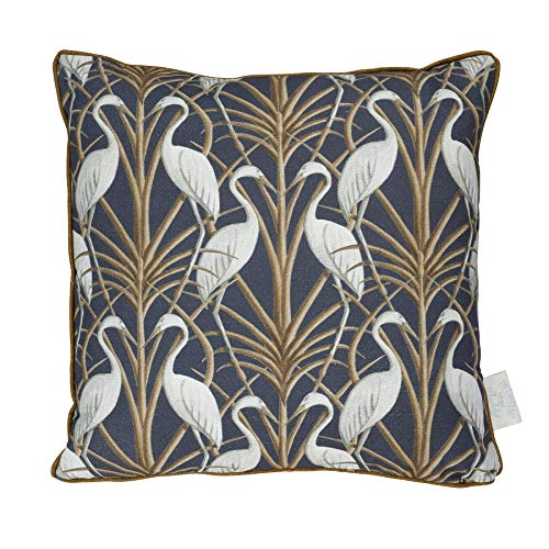 Angel Strawbridge Nouveau Heron Navy And Brown Cushion Escape To The Chateau