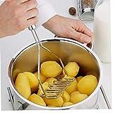1pc Kartoffelstampfer Edelstahl-Griff Mincer Große Für Die Herstellung Der Kartoffelbrei Guacamole Eiersalat Und Bananenkuchen