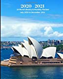2020 - 2021 | 18 Month Weekly & Monthly Planner July 2020 to December 2021: Australia Sydney Opera HouseMonthly Calendar with U.S./UK/ ... x 10 in.- Vacation Travel Office Equipment &
