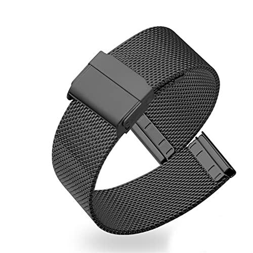 YYCHER Correa de acero inoxidable 14 16 18 19 20 22 mm para DW para Huawei Fossil para Samsung Armani para pulsera de metal milanés (color de la correa: 1, ancho de la correa: 20 mm)