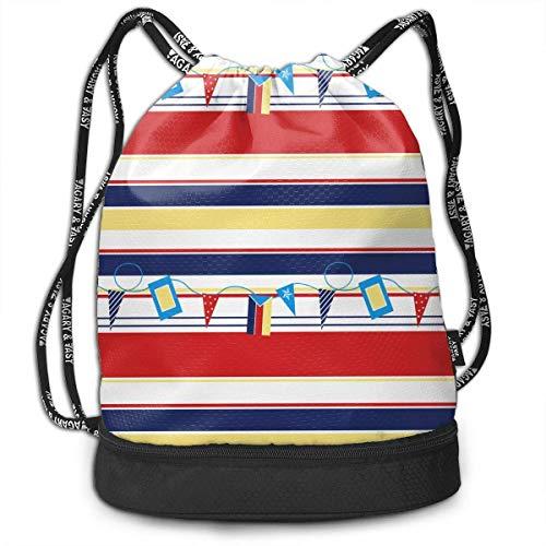 BGDFN Mochila con cordón Bolsa Sport Gym Sackpack Regatta Bags