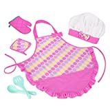 Play Circle by Battat – Smart Cookie Chef's Apron – Chef Hat and Matching Pink Apron with Toy Cooking & Baking Accessories – Pretend Play House & Kitchen Set for Kids Ages 3 and Up (6 Pieces)