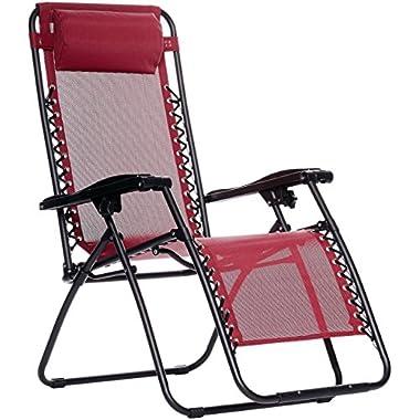 AmazonBasics Zero Gravity Chair - Burgundy