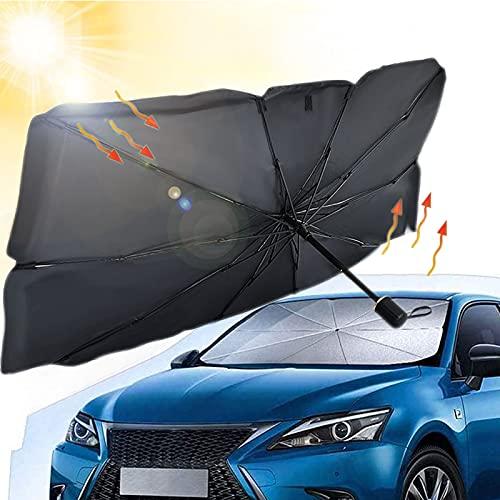 Auto Parasole Ombrello, Parasole per Parabrezza, Pieghevole Ombrello parasole per Finestrino Anteriore Auto,visiera di copertura della finestra del parabrezza (140 x 130 x 79cm)