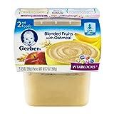 Gerber, 2nd Foods, Blended Fruits & Oatmeal, 7 oz (pack of 2)