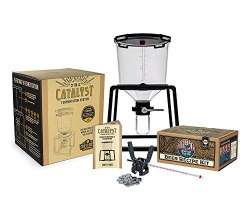 Craft A Brew Premium Homebrew Starter Home Brewing –6.5 Gallon Conical Fermenter – 5 Gallon Recipe Capping Kit – Thermometer (American Pale Ale)
