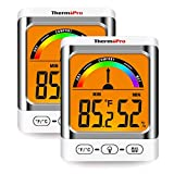 ThermoPro TP52-2 Digital Hygrometer Indoor Thermometer Temperature and Humidity Gauge Monitor Indicator Room Thermometer with Backlight LCD Display Humidity Meter