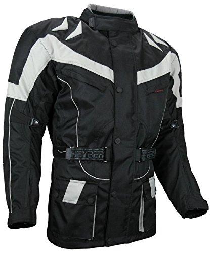 HEYBERRY Motorrad Jacke Motorradjacke Tourenjacke Grau Gr. L