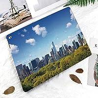 軽量版 iPad Pro 11 ケース 極薄軽量 2つ折りスタンド 磁気吸着式 オートスリープ機能 傷つけ防止 手帳型 2018秋発売のiPad Pro 11に対応 スマートカバーニューヨーク市ミッドタウン高層ビルのセントラルパークとマンハッタンのスカイライン