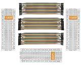 DEYUE Breadboard Jumper Set para Experimento Electrónico/Arduino y Raspberry Pi Project 3breadboard+3Jumper