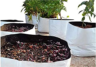 ROCHFERN UV Treated Grow Bag, White, 35 x 20 cm, 25 Pieces