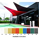 シェード セイル 日除けシェード 撥水 耐久性 ベランダ/廊下/庭下/庭先用 三角形 UVカットPU 160g/m²,サイズカスタマイズ可能、 10色 (Color : #6, Size : 2x2x2m)