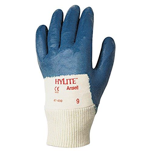 Ansell Hylite 47-400 Gants pour usages multiples, protection mécanique, Bleu, Taille 10 (Sachet de 12 paires)