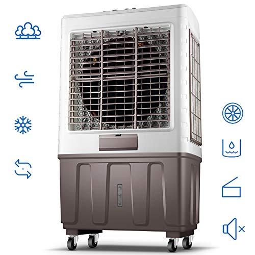 ZMCOV Enfriador De Aire Portatil, 3-En-1 Air Refrigerador Humidificador Purificador,Temporizador 12 Horas, 3 Modos, Tanque 55 litros(Mecánico),6000 Air Volume