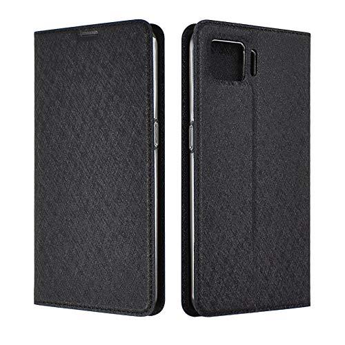 シズカウィル(shizukawill) OPPO A73 CPH2099 楽天モバイル 手帳型 ケース カバー Slim Black スリム ケース 黒色 カード収納あり ストラップホール オッポa73 オッポ エー73 oppoa73 eSIM対応 エーナナサン 手帳ケース