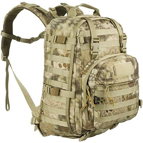 Wisport Rucksack 35L für Damen & Herren + inkl. E-Book   Camo Wanderrucksack leicht   Outdoor   Weekender Backpack   Zelten   Daypack   Kryptek Highlander   Whistler II 35 L