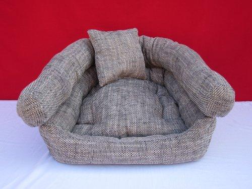 Knuffelwuff panier pour chien 80 cm coton gris x 60 cm x 28 cm d'épaisseur