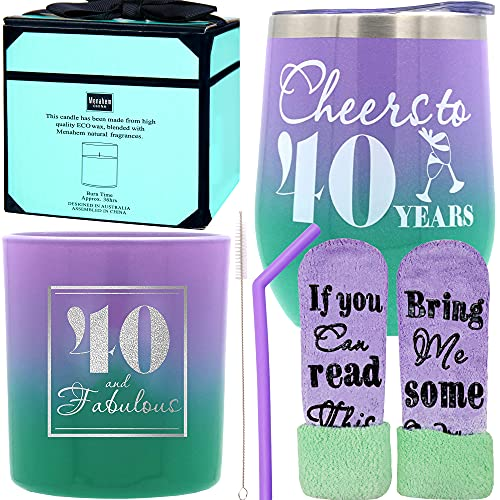 40th Birthday Gifts for Women, 40th Birthday Gifts, Gifts for 40 year old Woman's Birthday, 40th Birthday, 40 and Fabulous Gifts for Women, 40th Birthday Gifts for Her, Cheers to 40 years