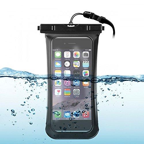 MY-AXE Funda protectora impermeable universal para smartphone de hasta 5,7 pulgadas, color negro
