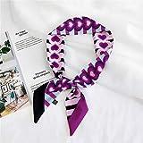 Fabufanda Bufanda De Correa con Estampado De Punto Pequeño Bufanda De Seda para Mujer Bufanda De Cabeza De Moda Bufanda Sombreros Largos Bufanda Accesorios De Cinta 40 Amor Púrpura Ajuste para Mujer