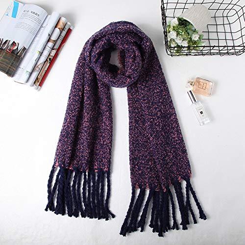 mlpnko Dicke warme Imitation Kaschmir gebürstet Schal weibliche Wilde Mode Schal Lätzchen mit doppeltem Zweck
