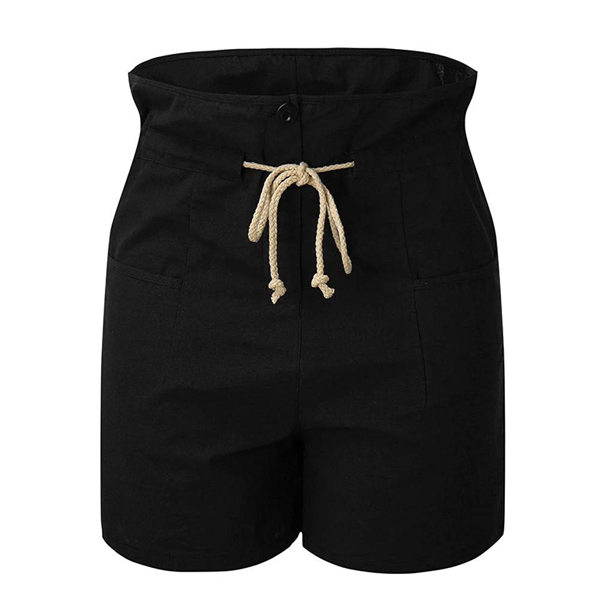 Botrong Women's Casual Cotton Pants Summer Shorts Jersey Walking Shorts