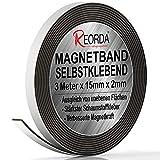 Reorda® Magnetband selbstklebend | Verbesserte Haftkraft durch starken Schaumstoffkleber | Magnetband mit optimierter Magnetkraft durch Anisotropic Material | Anwendbar in Küche, Schule & Büro