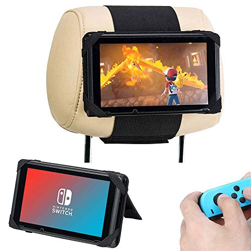 Supports pour Nintendo Switch, Support Voiture Appui-tête pour Console Nintendo Switch