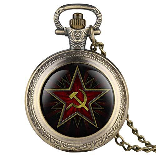 ZMKW Emblema del Partido del Pentagrama URSS Insignias soviéticas Martillo Hoz...