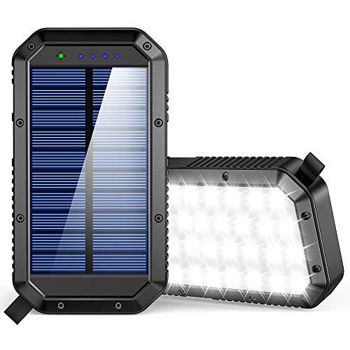 Geortek 25,000mAh Solar Battery Pack