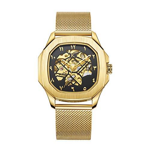 KLEIN Watches Otus Malik Gold Automatikuhr Arabic Skelettuhr 40mm