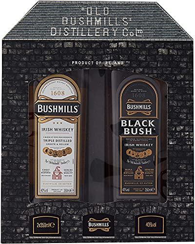 Bushmills - Gift Pack - 2 x 35cl Original & Black Bush Irish - Whiskey