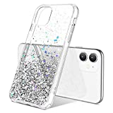 ULAK iPhone 11 Case, Clear Glitter Stars Case Sparkly Soft