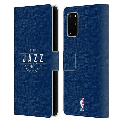 Head Case Designs Oficial NBA Logotipo 2018/19 Utah Jazz Carcasa de Cuero Tipo Libro Compatible con Samsung Galaxy S20+ / S20+ 5G