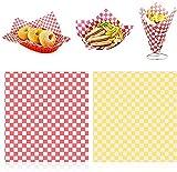 Sugazoon EUR 11 x 10 '200 hojas de papel de comida y sándwich papel de envolver alimentos para hornear Deli Basket Liner Envolturas a prueba de grasa para pastel/regalo/hamburguesa de queso/sándwich