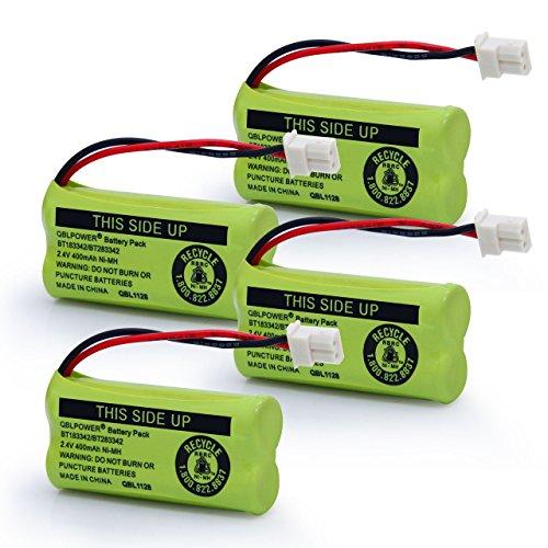 QBLPOWER BT-183342 BT-283342 BT-166342 BT-266342 BT-162342 BT-262342 Battery Compatible with VTech CS6114 CS6419 CS6719 AT&T EL52300 CL80111 Cordless Phone(Pack of 4)