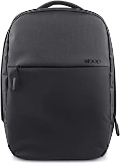 eloop City B1 Waterproof Laptop Backpack, Padded laptop compartment with iPad/Tablet/eReader Pocket in Charcoal [16 Litres]