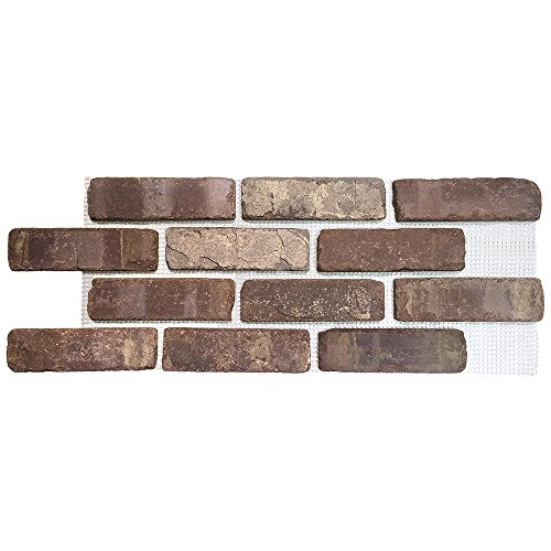 Brickwebb Thin Brick Sheets - flats (Box of 5 Sheets) - Cafe Mocha