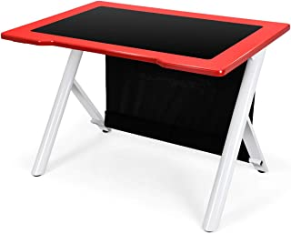 Giantex Gaming Desk, E-Sports Computer Desk Table with Large Ergonomic Surface and Heavy Duty Construction for Home or Office, Gaming PC Desk Table (Red & Black)
