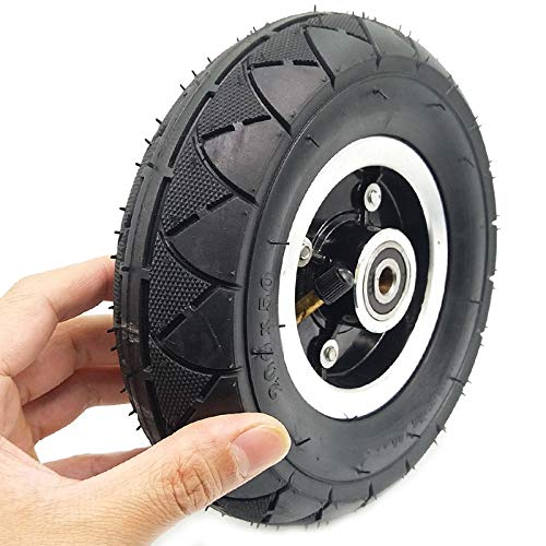 Wobekuy Neumático eléctrico para scooter con buje de rueda de 8 pulgadas, 200 x 50, neumáticos eléctricos