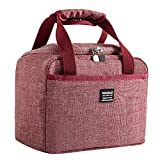 12shage Double Decker Soft Cooler Bag with Hard Liner, Large Insulated Picnic Lunch Bag Box Soft-Sided Cooling...