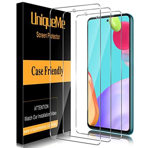 [3 Stück] UniqueMe Schutzfolie Kompatibel mit Samsung Galaxy A52 Panzerglas, Folie für Samsung Galaxy A52 Panzerglasfolie, [9H-Festigkeit] HD Klar Bildschirmfolie Gehärtetes Glas