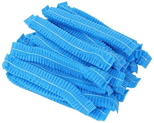 Sumedtec - Pack de 100 gorros desechables no tejidas, elásticas, antipolvo, para el cabello, médicos, para médicos, laboratorios, enfermeras, tatuajes, servicio de comida, hospital