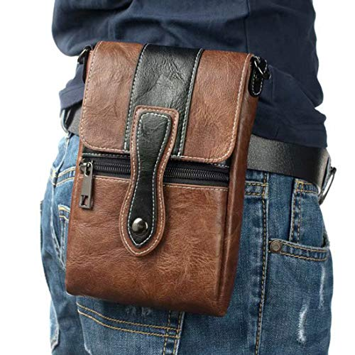 Cell Phone Shoulder Bag Brown, Leat…