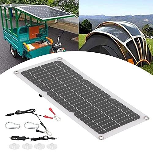 Cargador de batería de Panel Solar, Panel Solar de diodo Integrado 10W 12V Salida USB para Barcos para automóviles para el hogar