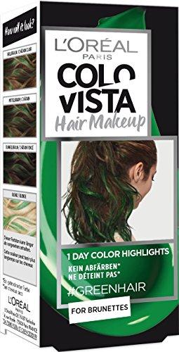 L'Oréal Paris Colovista Hair Makeup 1 jour Color Highlights 20 cheveux verts